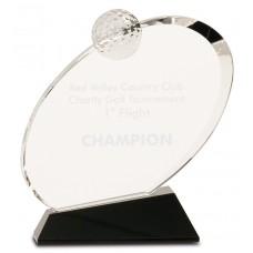 CRY013 Premier Oblong Golf Award